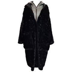 Helen Yarmak Sheared Black Mink Coat