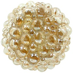 Helena Tynell Amber Bubble Flush Mount Sconce for Limburg, 1960s