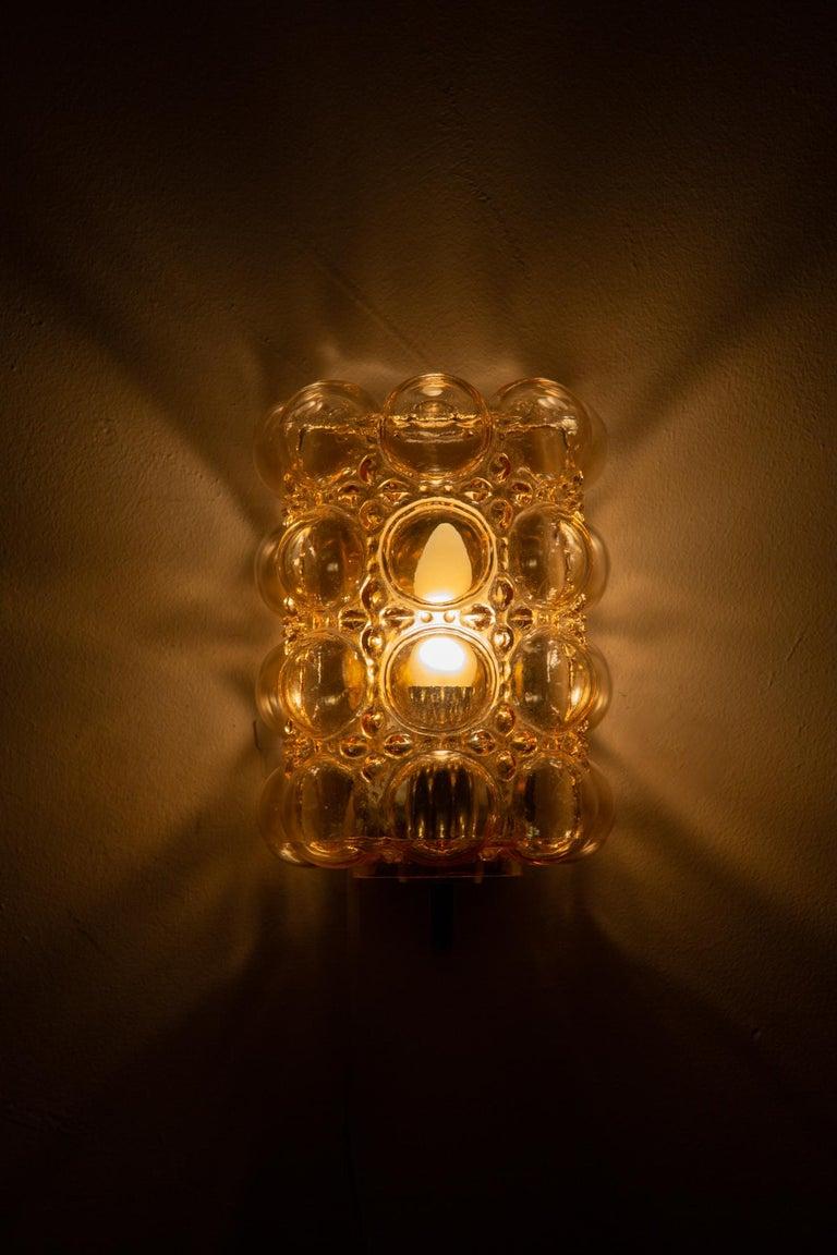 Brass Helena Tynell Bubble Wall Lamp for Glashütte Limburg For Sale