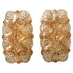 Helena Tynell Champagne, Amber Glass Sconces
