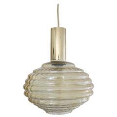 Helena Tynell Glass Pendant Lamp for Glashutte Limburg, Germany, 1960s