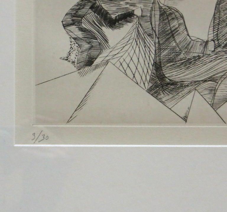 Unknown - Gray Figurative Print by Helene de Beauvoir
