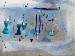 Do not retrace our steps #1 - Hélène Duclos, 21st Century, Contemporary art blue