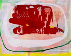 Look at things from distance #2 Hélène Duclos 21st Century Contemporary art red