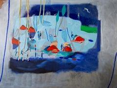 No extenuating circumstances #1 Hélène Duclos 21st Century Contemporary art blue