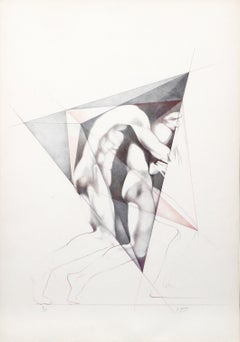Move II, Lithograph by Helene Guetary