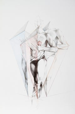 Move III, Lithograph by Helene Guetary