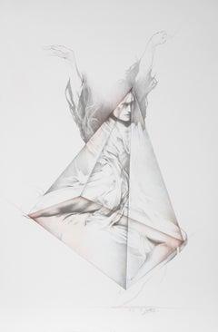 Move V, Modern Dance Lithograph by Helene Guetary