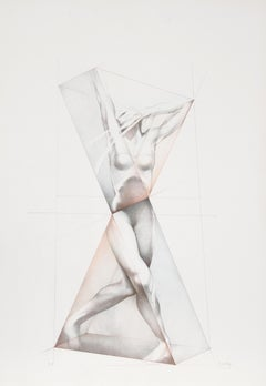 Move X, Lithograph by Helene Guetary