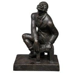 Helene Sardeau French Art Deco Jazz Singer Cast Bronze Sculpture