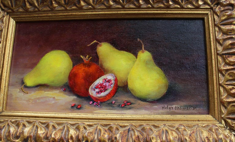 Organic - Brown Still-Life Painting by Helga Ohannesian