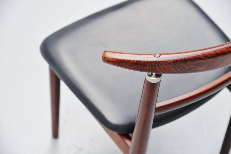 Danish Helge Sibast Borge Rammeskov Chair Sibast Mobler, Denmark, 1962 For Sale