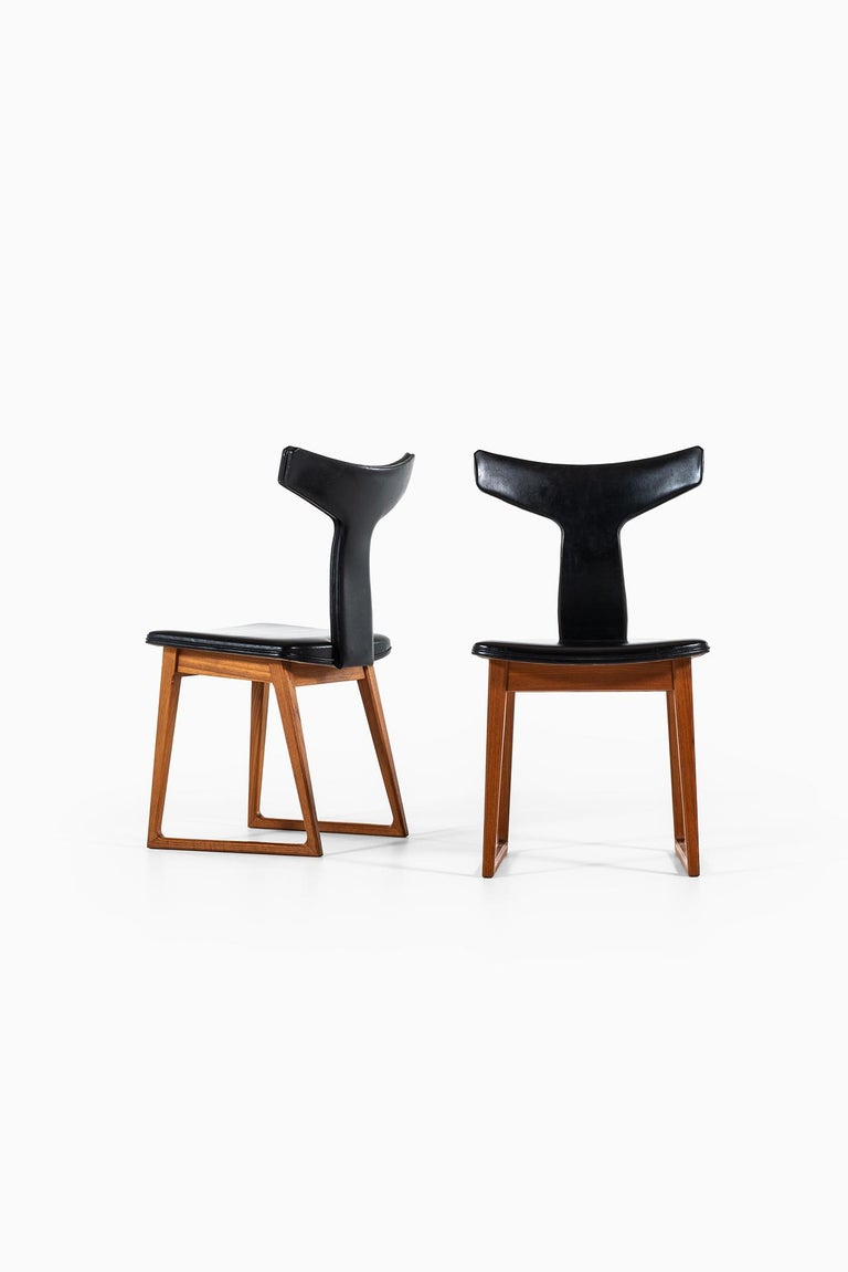 Scandinavian Modern Helge Sibast Dining Chairs in Teak by Sibast in Denmark For Sale