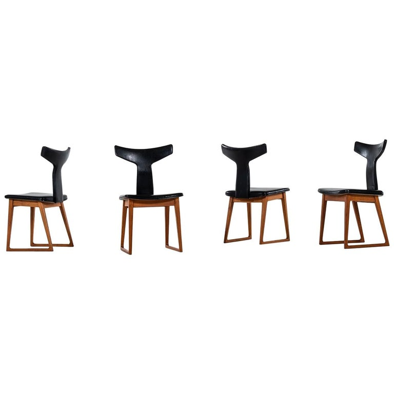 Helge Sibast Dining Chairs in Teak by Sibast in Denmark For Sale