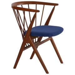 "Helge Sibast ""No. 8"" Danish Mid-Century Modern Spindle Back Armchair"