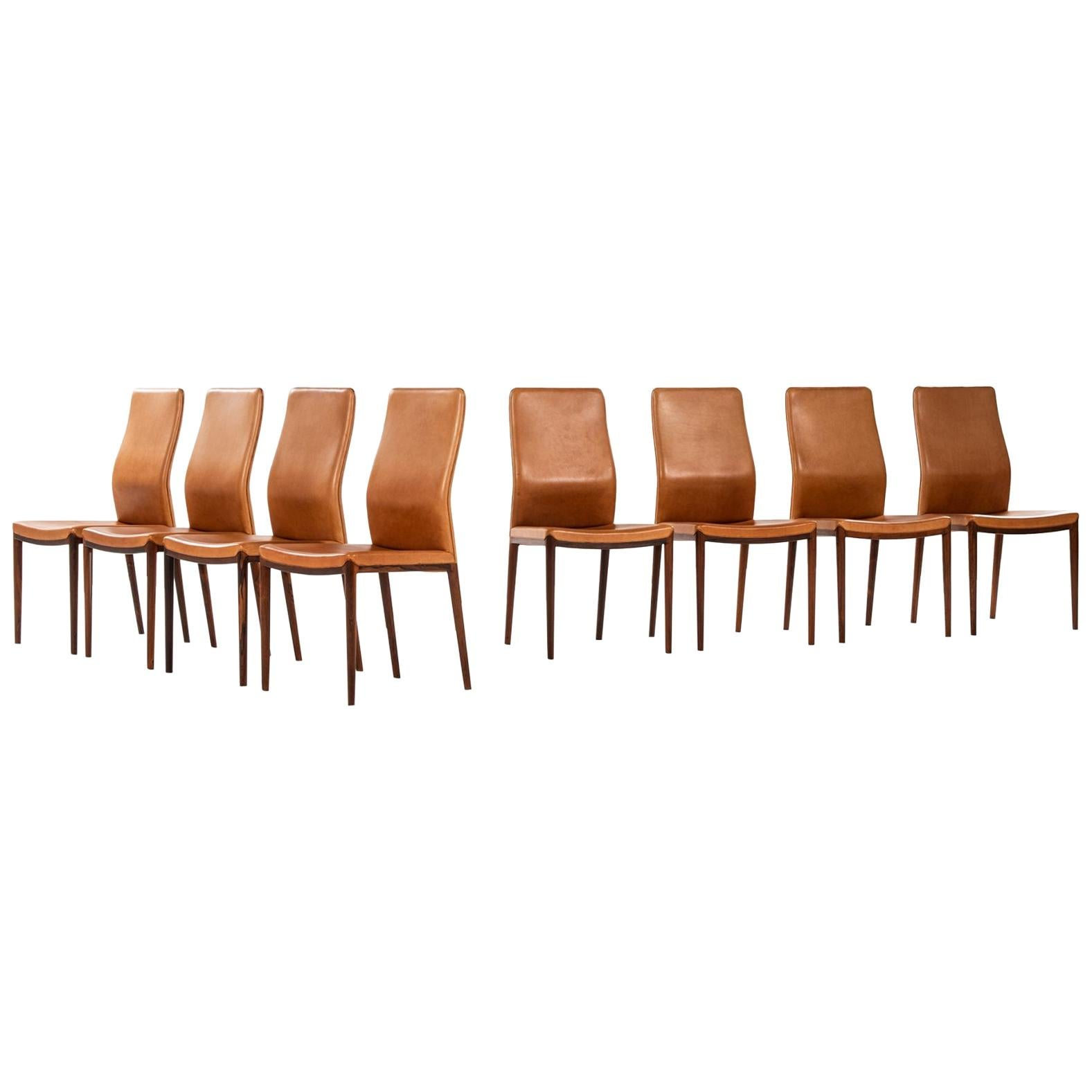 Helge Vestergaard Jensen Dining Chairs Produced by P. Jensen & Co. Cabinetmakers