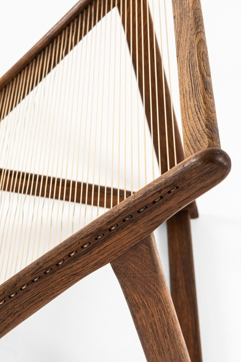 Scandinavian Modern Helge Vestergaard-Jensen Lounge Chair by Cabinetmaker Peder Pedersen in Denmark For Sale