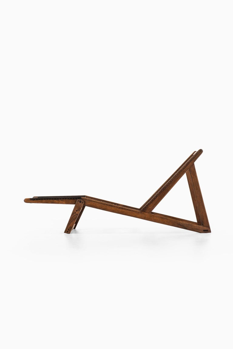 Danish Helge Vestergaard-Jensen Lounge Chair by Cabinetmaker Peder Pedersen in Denmark For Sale