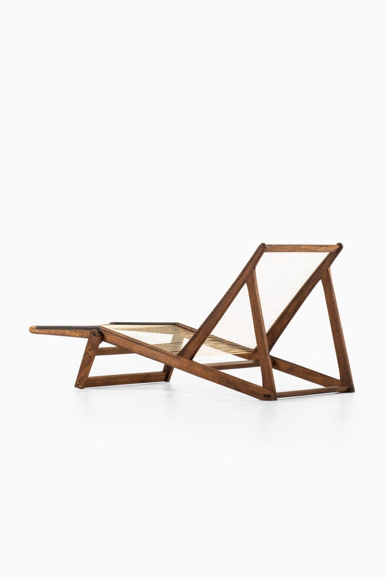 Nylon Helge Vestergaard-Jensen Lounge Chair by Cabinetmaker Peder Pedersen in Denmark For Sale