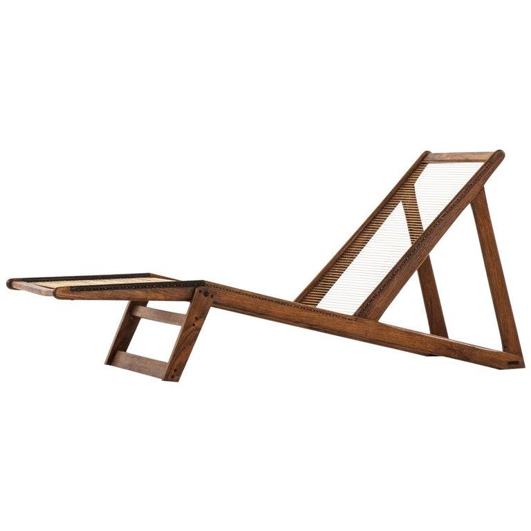 Helge Vestergaard-Jensen Lounge Chair by Cabinetmaker Peder Pedersen in Denmark For Sale