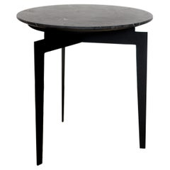 Hélice steel and black marble Side Table