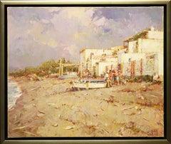 """Playa de Adra, Almeria"" by Helios Gisbert 18 x 22 inches Oil on Canvas"