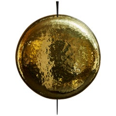 Helios Wall Sconces in Brass and Iron by Alexandre Taveau