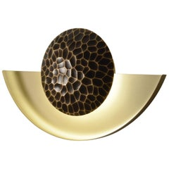 Helix (Crescent) Wall Sconce in Sandblasted Brass By Matthew Fairbank