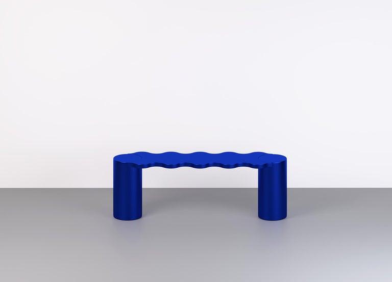 Italian Contemporary Bench Blue Aluminium Hella by Chapel Petrassi For Sale
