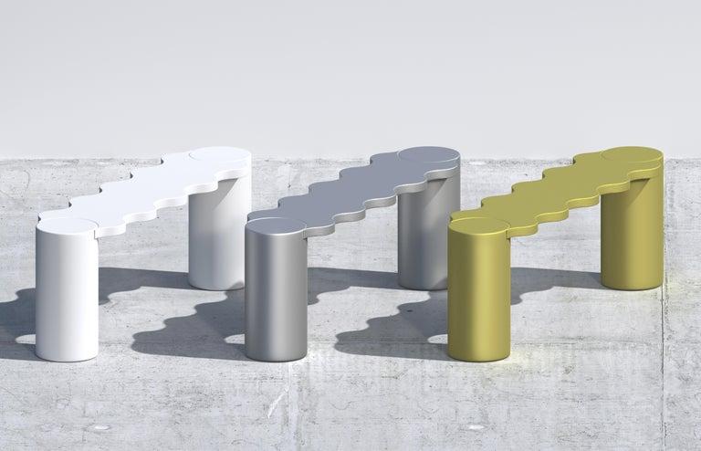 Contemporary Bench White Aluminium Hella by Chapel Petrassi For Sale 2