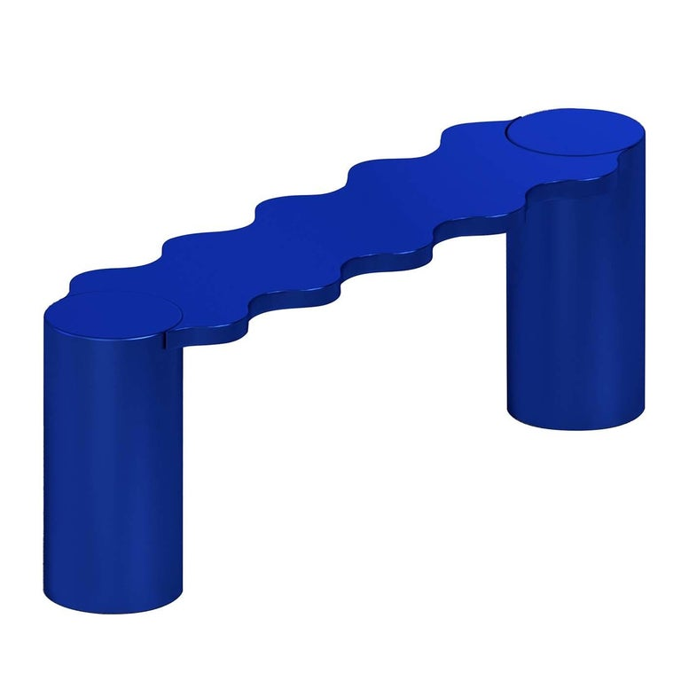 Italian Hella Blue Bench For Sale