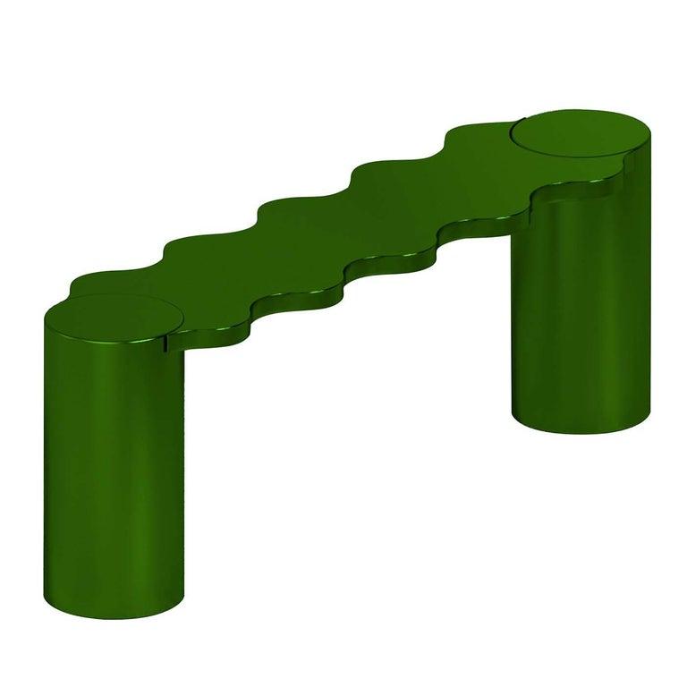 Italian Hella Green Bench For Sale