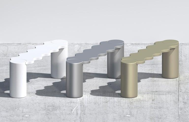 Italian Chapel Petrassi Contemporary Bench Sand Bronze Hella Aluminium For Sale