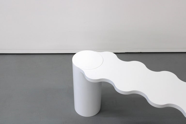 Chapel Petrassi Contemporary Bench White Hella Aluminium In New Condition For Sale In Le Perreux-sur-Marne, FR