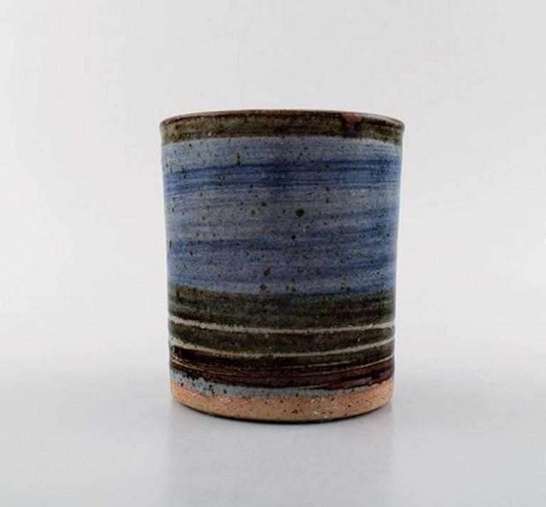 Scandinavian Modern Helle Alpass Vase of Glazed Stoneware For Sale