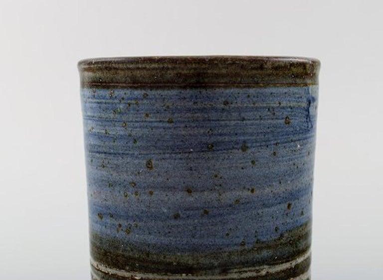 Danish Helle Alpass Vase of Glazed Stoneware For Sale