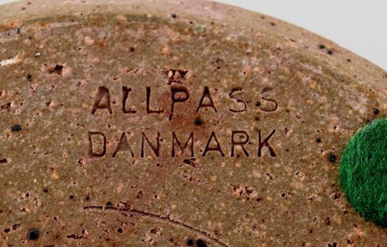 Mid-20th Century Helle Alpass Vase of Glazed Stoneware For Sale