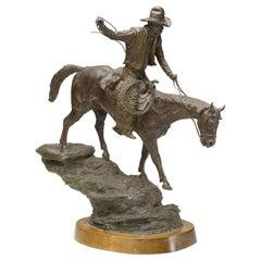 Hells Canyon Cowboy Bronze Sculpture by J. Shirley Bothum