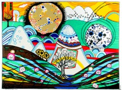 Sun and Moon Beauty Contest, Vienna Daydreams, Surrealist Abstract Print