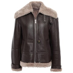 Helmut Lang Oversized Shearling Lined Jacket