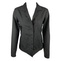 HELMUT LANG Size 4 Black Polyester Jacket Blazer