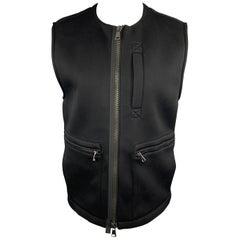 HELMUT LANG Size M Black Jersey Tactical Bondage Strap Vest