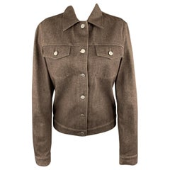 HELMUT LANG Size M Brown Raw Denim Buttoned Jacket