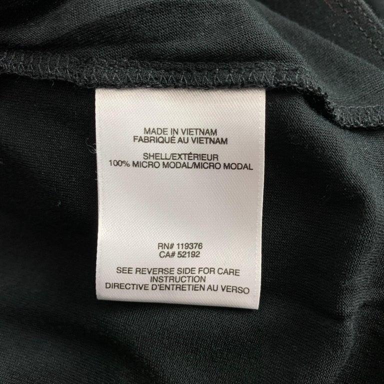 Women's HELMUT LANG Size S Black Jersey Modal Ruched Mini Skirt