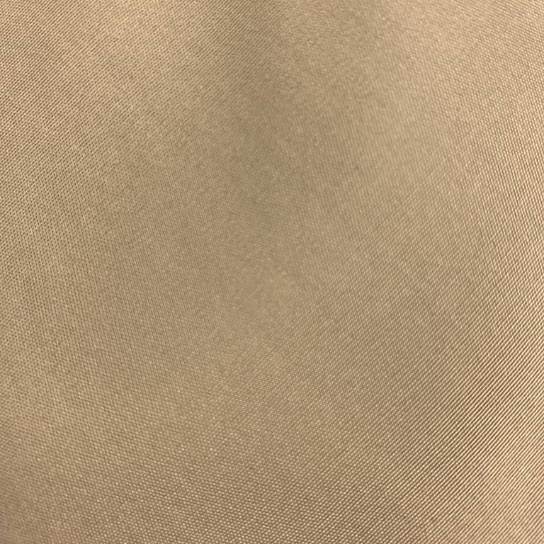 HELMUT LANG Solid Khaki Beige Silk Tie In Excellent Condition For Sale In San Francisco, CA