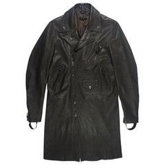 Helmut Lang SS2004 Leather Bondage Rider Coat