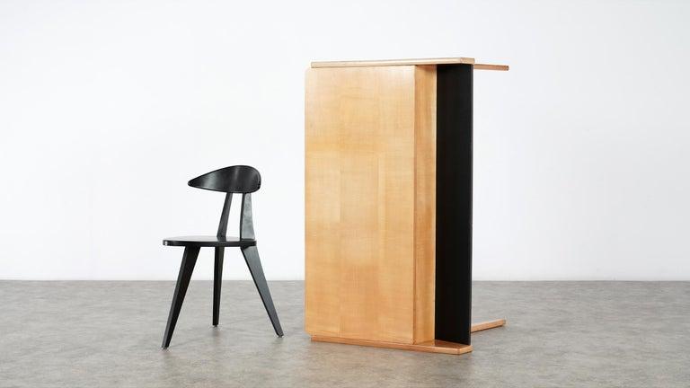 Helmut Magg, 2 Vided Bookshelf Desk, 1950 for WK Möbel, Germany in Cherrywood For Sale 14