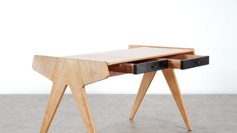 Wood Helmut Magg, 2 Vided Bookshelf Desk, 1950 for WK Möbel, Germany in Cherrywood For Sale
