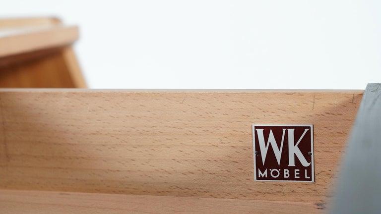 Helmut Magg, 2 Vided Bookshelf Desk, 1950 for WK Möbel, Germany in Cherrywood For Sale 2