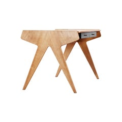 Helmut Magg, 2 Vided Bookshelf Desk, 1950 for WK Möbel, Germany in Cherrywood